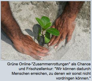 Grüne Online-Zusammenrottungen